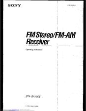 Sony STR-GX49ES Manuals