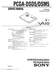 Sony VAIO PCGA-DSD5 Manuals