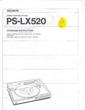 Sony PS-LX520 Manuals