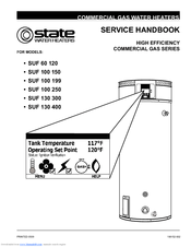 State Water Heaters SUF 100-150 Manuals