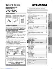 Sylvania DVL1000G Manuals
