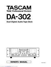 Tascam DA-302 Manuals
