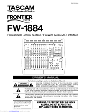 Tascam FW-1884 Manuals