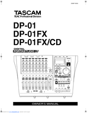 Tascam DP-01FX/CD Manuals