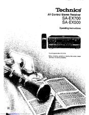 Technics SA-EX700 Manuals