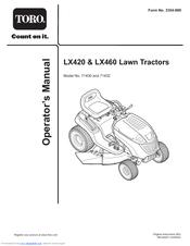 Toro LX420, LX460 Manuals