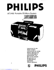 Philips AZ2402/05 Manuals