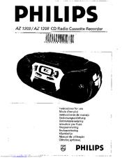 Philips AZ1208/00 Manuals