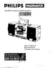 Philips/magnavox AZ2725/17 Manuals