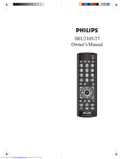 Philips SRU2103/27 Manuals