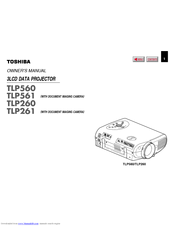 Toshiba TLP-560 Manuals