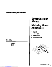 Troy-bilt 14049 Manuals