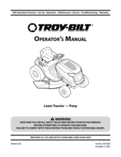 Troy-bilt 13an77kg011 Manuals