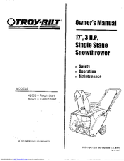 Troy-bilt 42020 Manuals