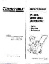 Troy-bilt 42020 Manuals