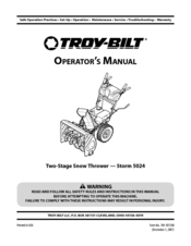 Troy-bilt Storm 5024 Manuals