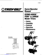 Troy-bilt 15008 Manuals