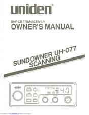 Uniden Sundowner UH-077 Manuals