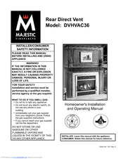 Majestic Fireplaces DVHVAC36 Manuals