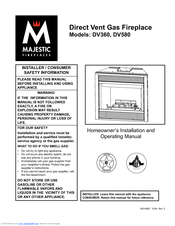 Majestic Fireplaces DV360RFN Manuals