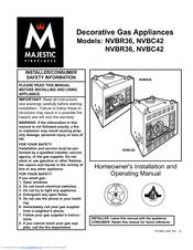 Majestic Fireplaces NVBR42RN Manuals