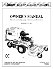 Walker MS (13 HP) Manuals