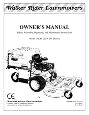 Walker MDD (20.9 HP) Manuals