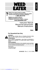Weed Eater FB25 Manuals