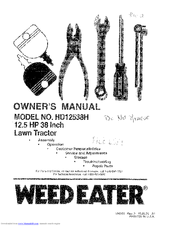 Weed Eater HD12538H Manuals