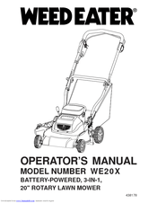 Weed Eater WE20X Manuals