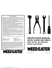Weed Eater 96114001404 Manuals