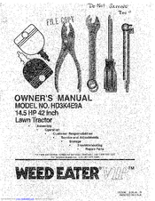 Weed Eater VIP HD3K4E9A Manuals