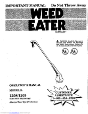 Weed Eater 1208 Manuals