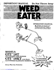 Weed Eater GTI18T Manuals