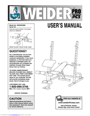 Weider Pro Pc3 Manuals