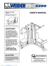 Weider PRO 3200 Manuals