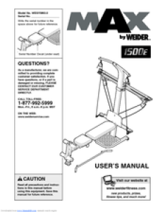 Manuals and user guides for weider cross bow by  we have manual available free pdf download also rh manualslib