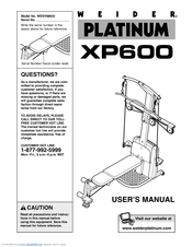 Weider Platinum 600/xp600 Manuals
