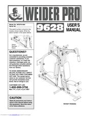 Weider Pro 9628 Manuals