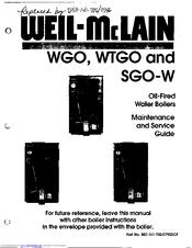 Weil-mclain WTGO Manuals