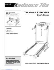 Weslo Cadence 78s Treadmill Manuals
