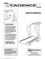 Weslo Cadence DL40 Manuals