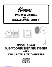 Audiovox Rampage SU-101 Manuals