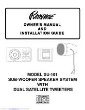 Audiovox Rampage SU-101 Manuals