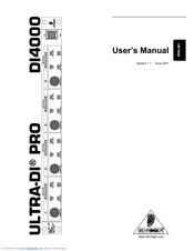 Behringer ULTRA-DI PRO DI4000 Manuals