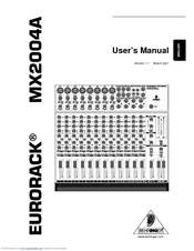 Behringer EURORACK MX2004A Manuals