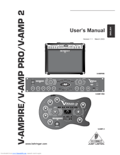 Behringer V-Amp 2 Manuals