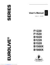 BEHRINGER B1800X MANUAL PDF