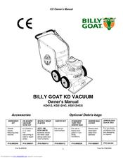 Billy Goat KD512HCS Manuals
