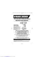 Black & Decker LDX116 Manuals